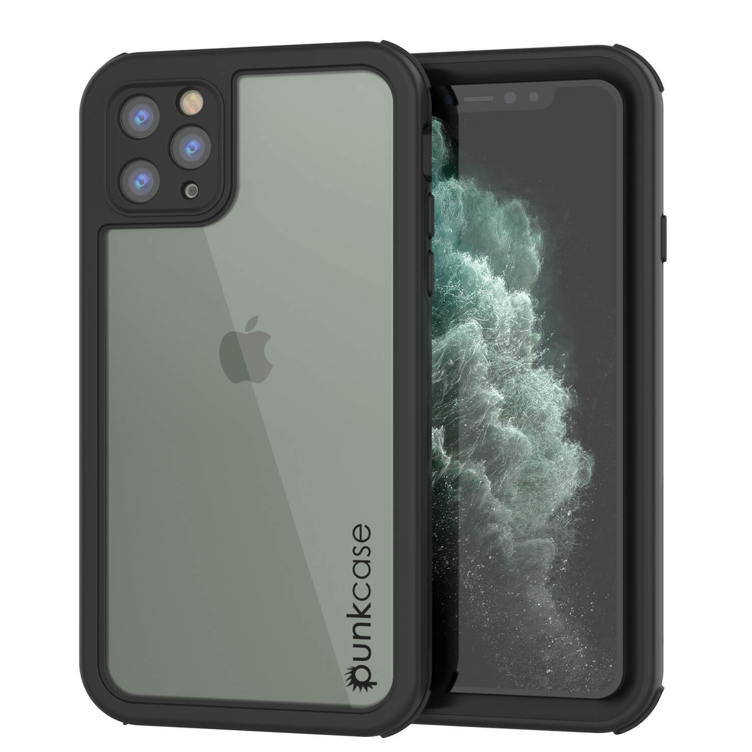 iPhone 11 Pro Max Waterproof IP68 Case, Punkcase [Black] [Rapture Series]  W/Built in Screen Protector