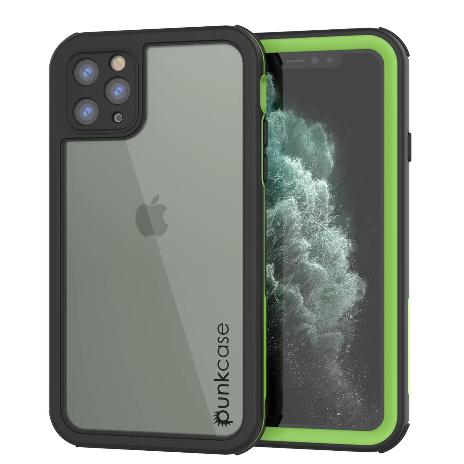 iPhone 11 Pro Max Waterproof IP68 Case, Punkcase [Green] [Rapture Series]  W/Built in Screen Protector