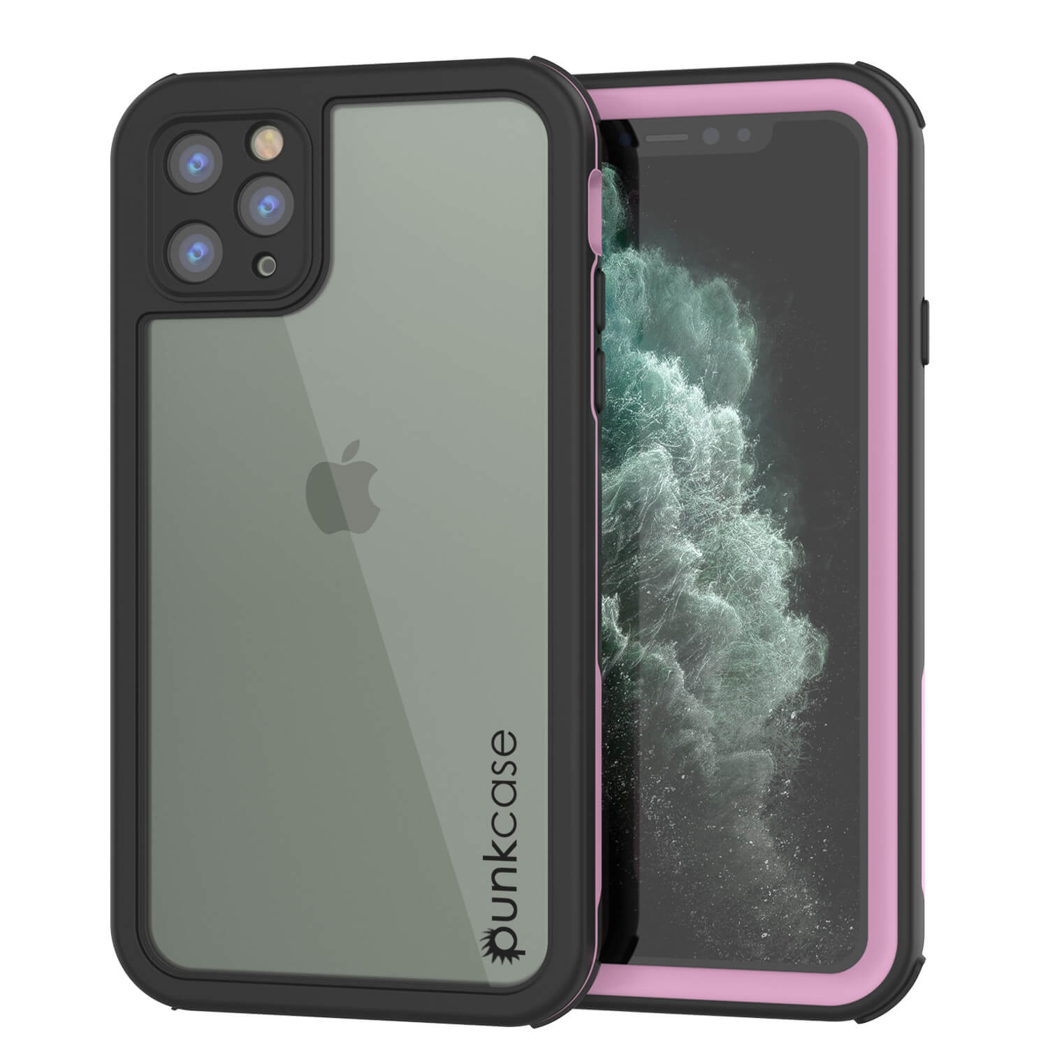 iPhone 11 Pro Max Waterproof IP68 Case, Punkcase [pink] [Rapture Series]  W/Built in Screen Protector