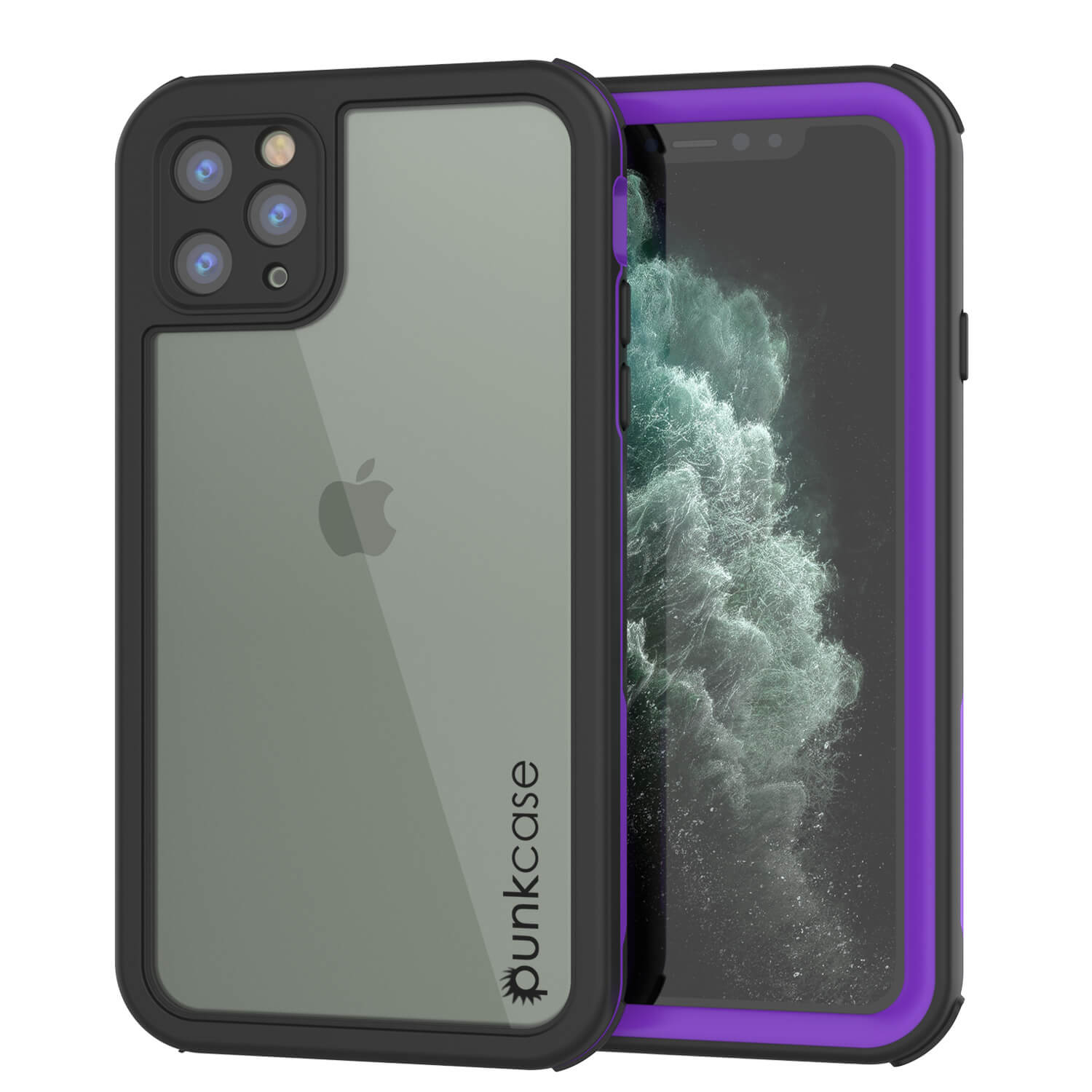 iPhone 11 Pro Max Waterproof IP68 Case, Punkcase [Purple] [Rapture Series]  W/Built in Screen Protector