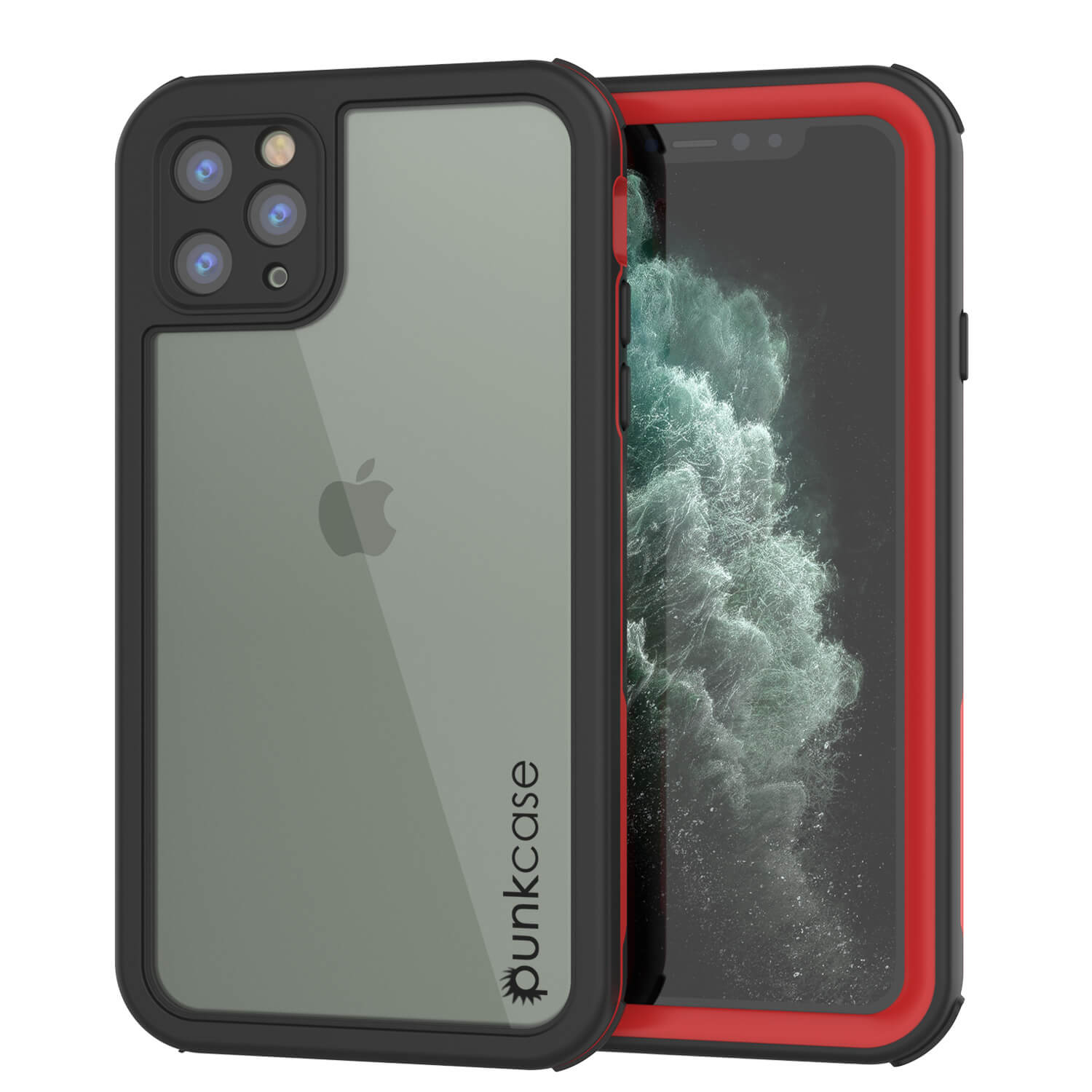 iPhone 11 Pro Max Waterproof IP68 Case, Punkcase [red] [Rapture Series]  W/Built in Screen Protector