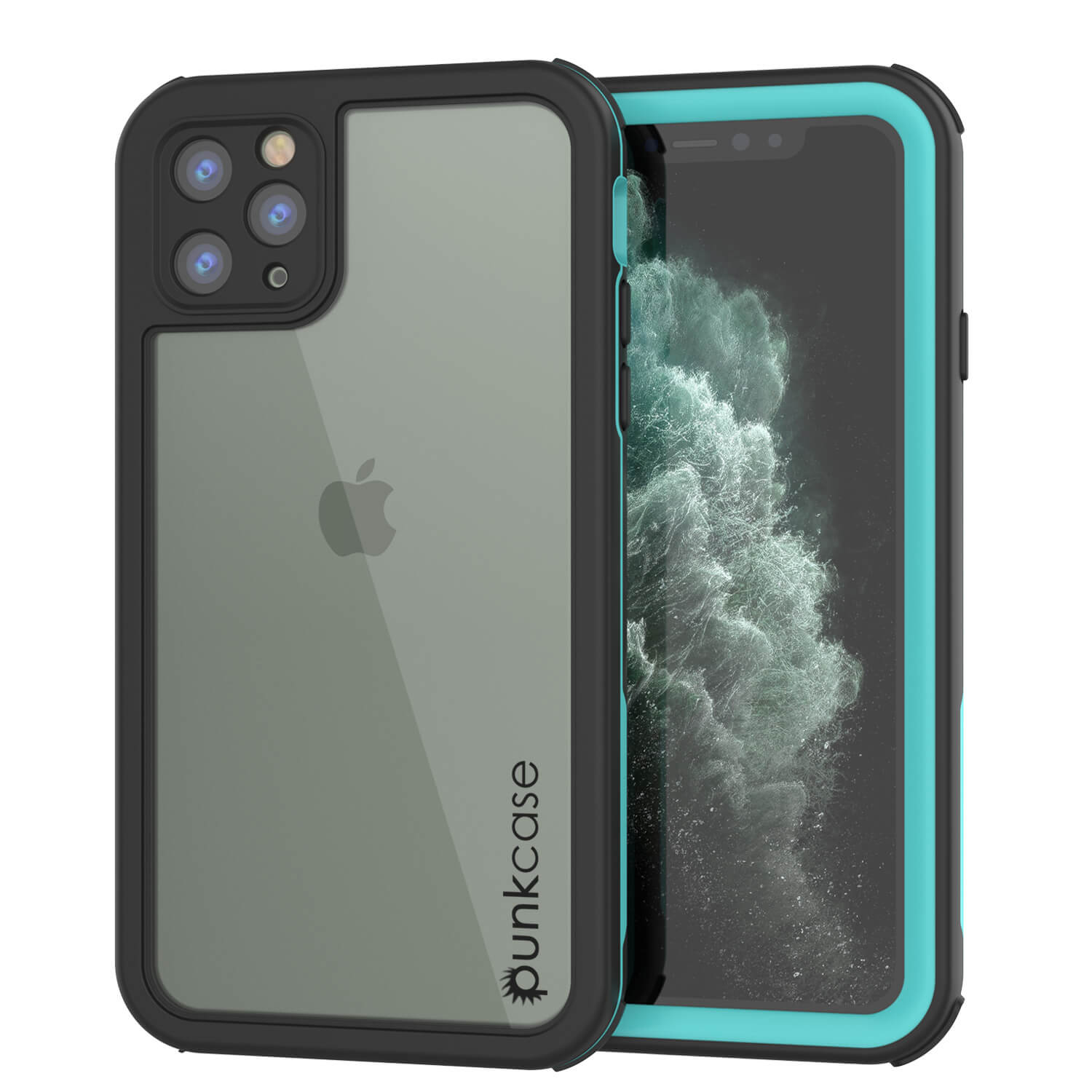 iPhone 11 Pro Max Waterproof IP68 Case, Punkcase [teal] [Rapture Series]  W/Built in Screen Protector