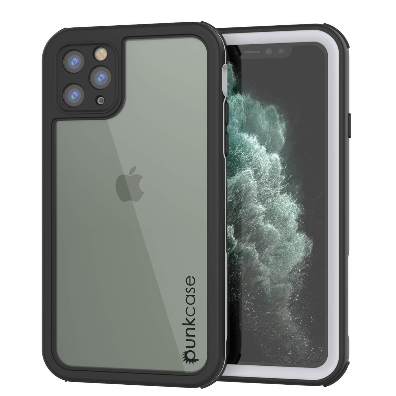 iPhone 11 Pro Max Waterproof IP68 Case, Punkcase [white] [Rapture Series]  W/Built in Screen Protector