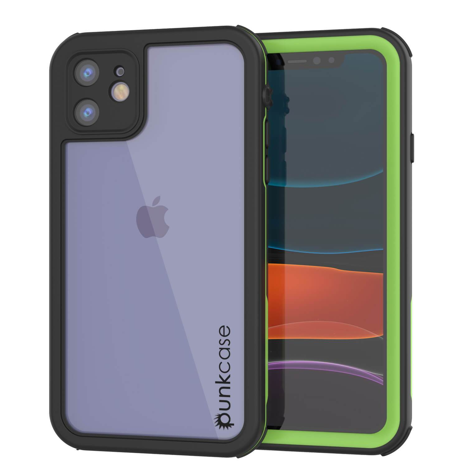 "iPhone SE 2020 (4.7"") Waterproof IP68 Case, Punkcase [Green] [Rapture Series]  W/Built in Screen Protector"