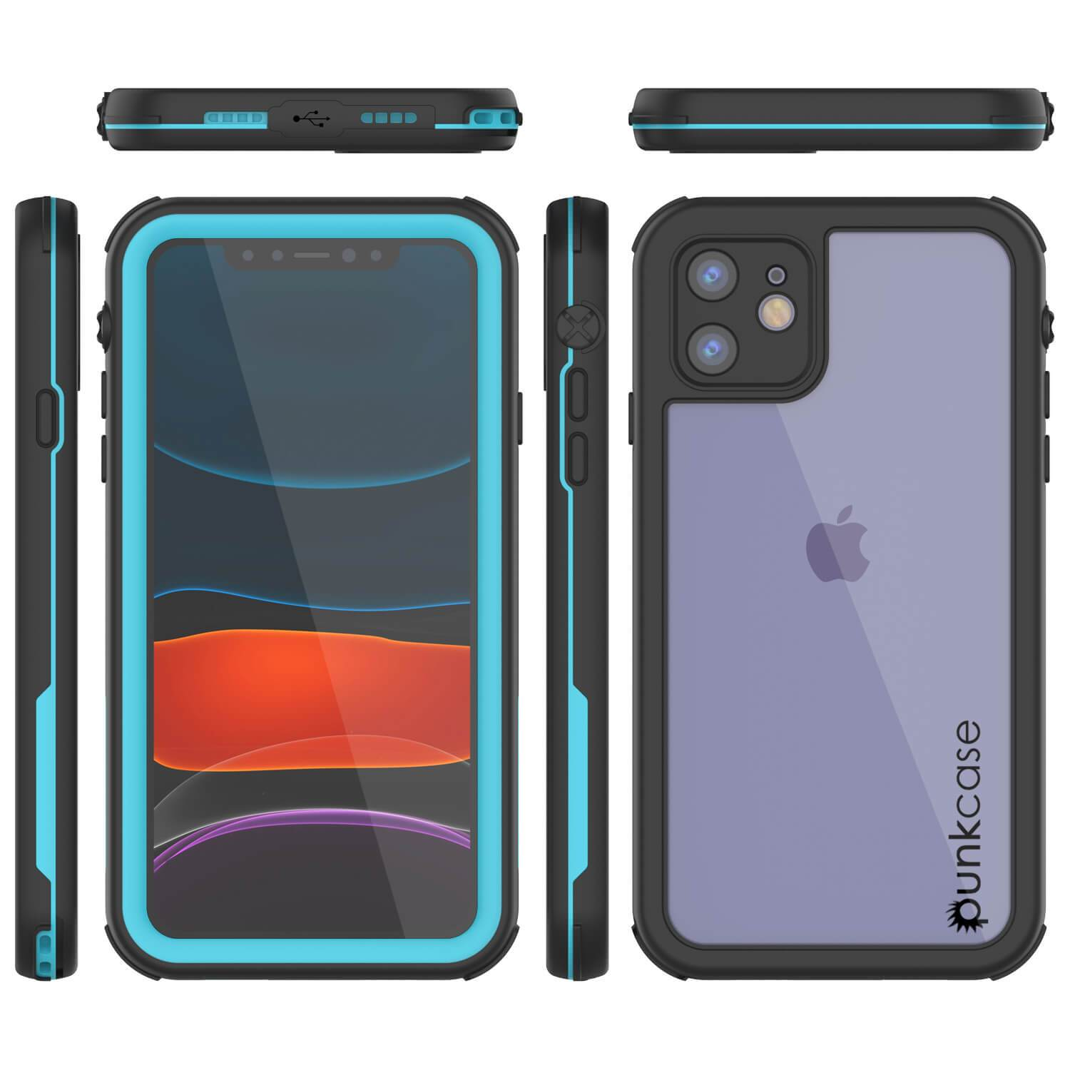 iPhone 8+ Plus Waterproof IP68 Case, Punkcase [Blue] [Rapture Series]  W/Built in Screen Protector