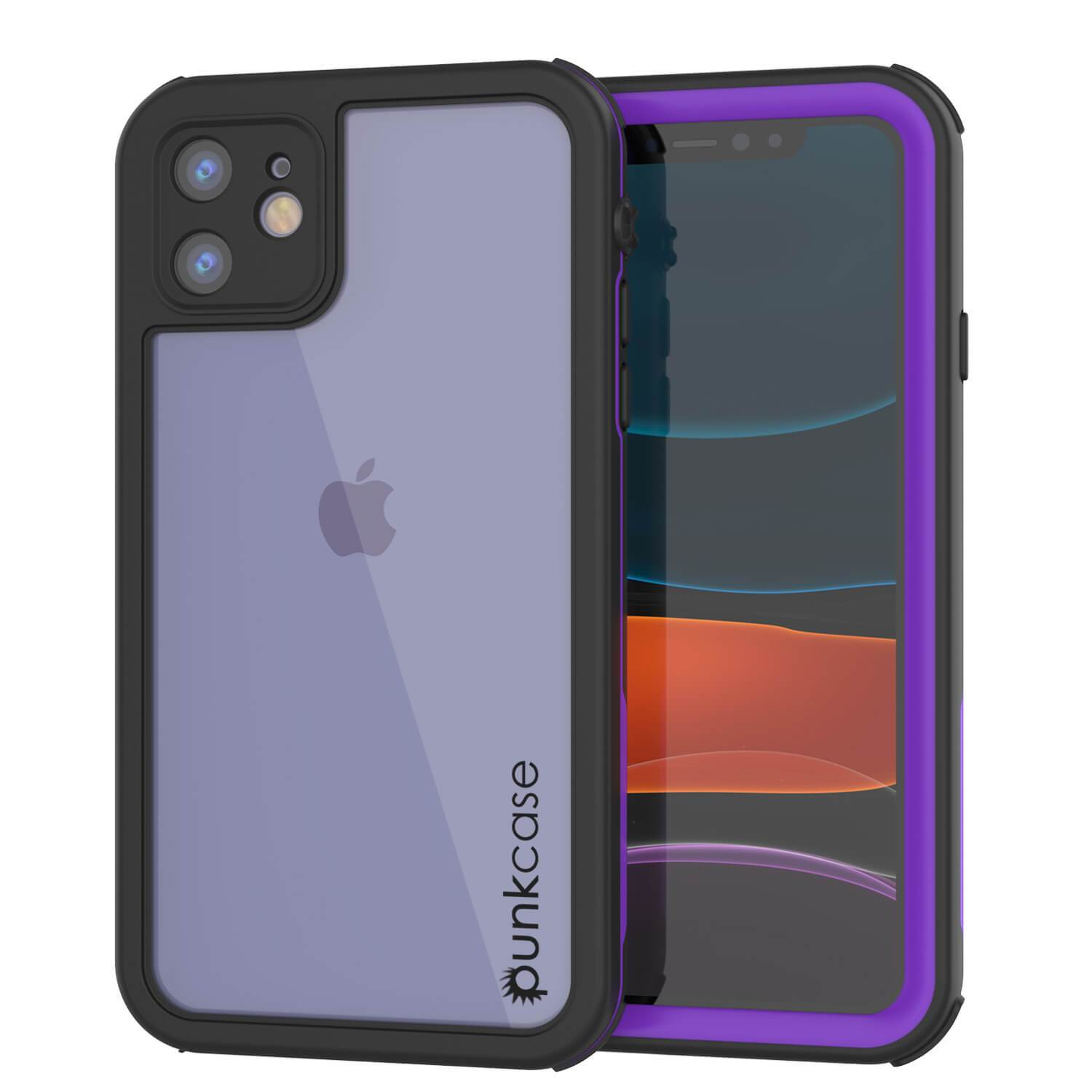 iPhone 8+ Plus Waterproof IP68 Case, Punkcase [Purple] [Rapture Series]  W/Built in Screen Protector