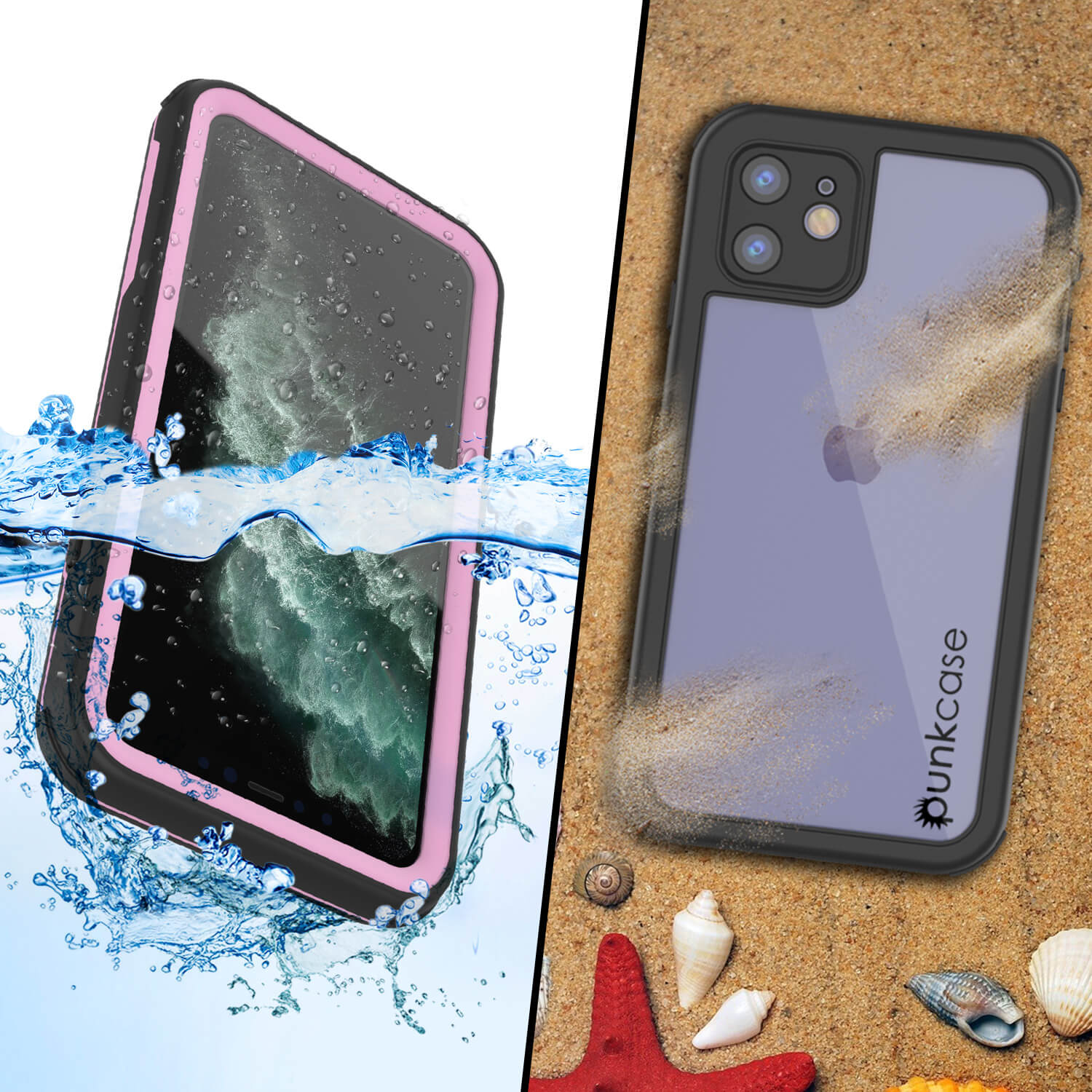 iPhone 11 Waterproof IP68 Case, Punkcase [pink] [Rapture Series]  W/Built in Screen Protector