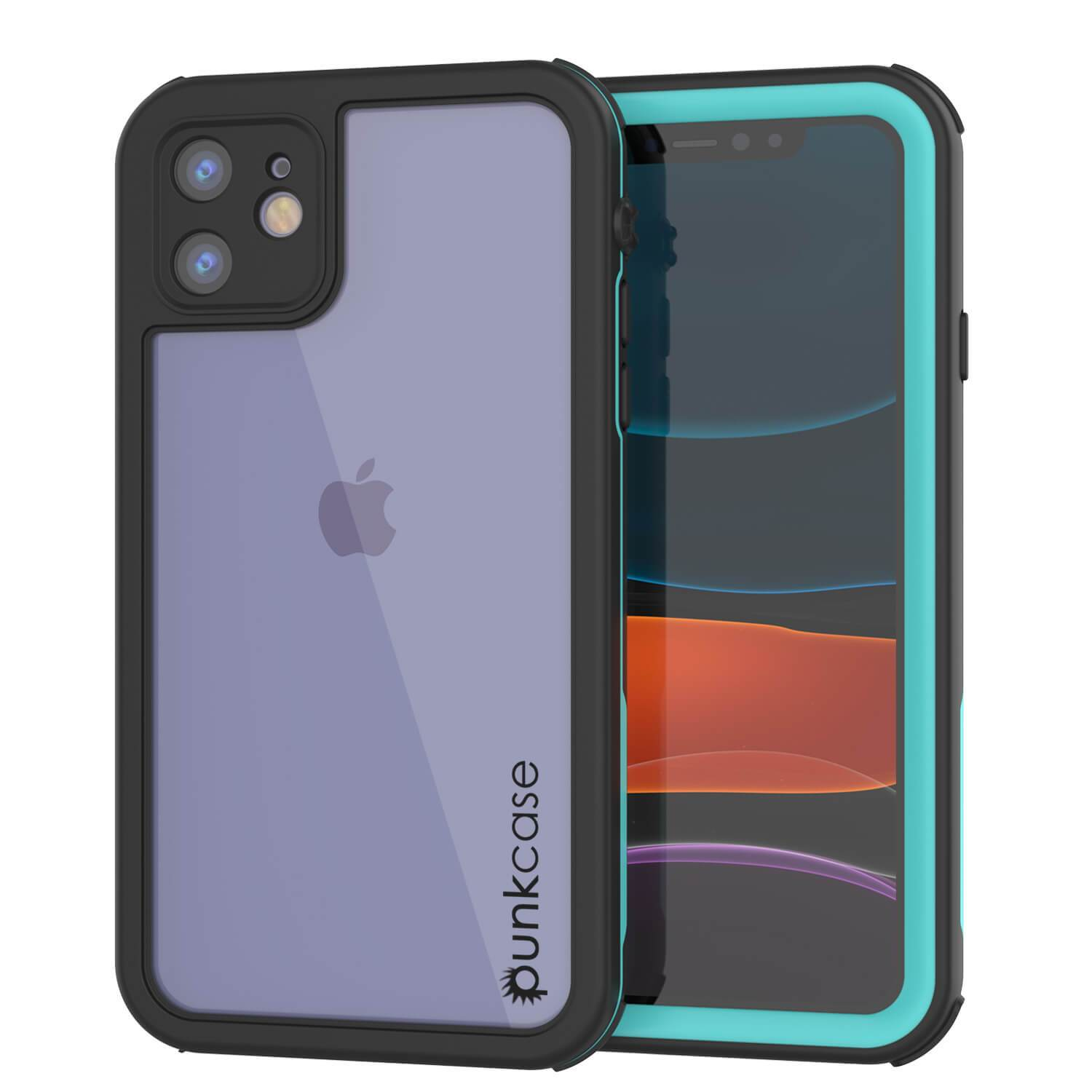 "iPhone SE 2020 (4.7"") Waterproof IP68 Case, Punkcase [teal] [Rapture Series]  W/Built in Screen Protector"