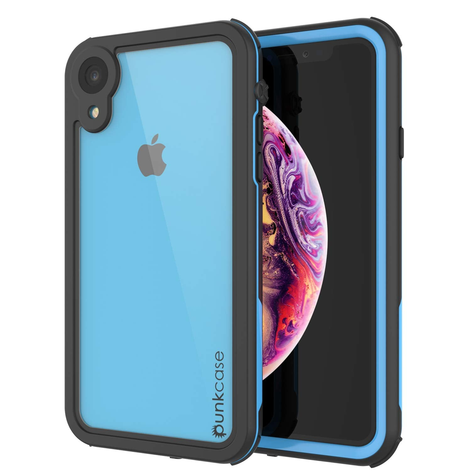 iphone xr full body protection case blue