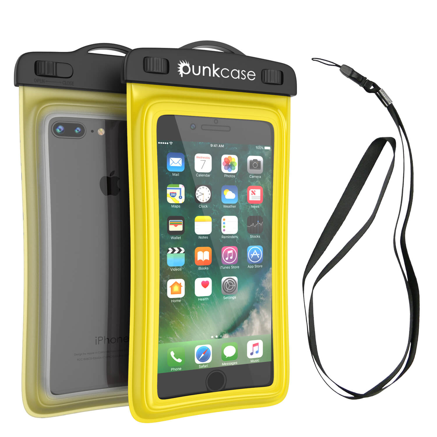 Waterproof Phone Pouch, PunkBag Universal Floating Dry Case Bag for most Cell Phones [Yellow]