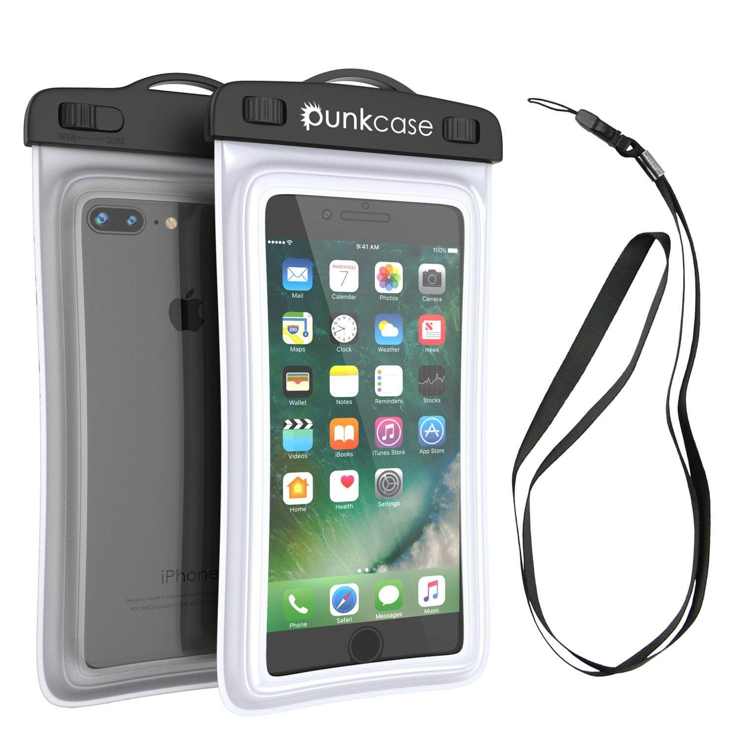 Waterproof Phone Pouch, PunkBag Universal Floating Dry Case Bag for most Cell Phones [White]