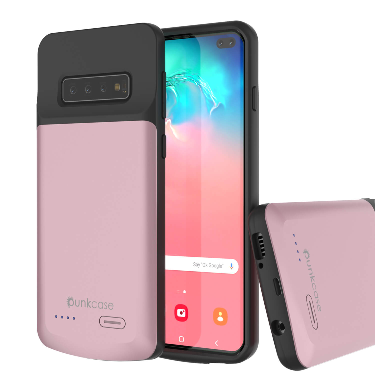 PunkJuice S10+ Plus Battery Case Rose - Fast Charging Power Juice Bank with 5000mAh