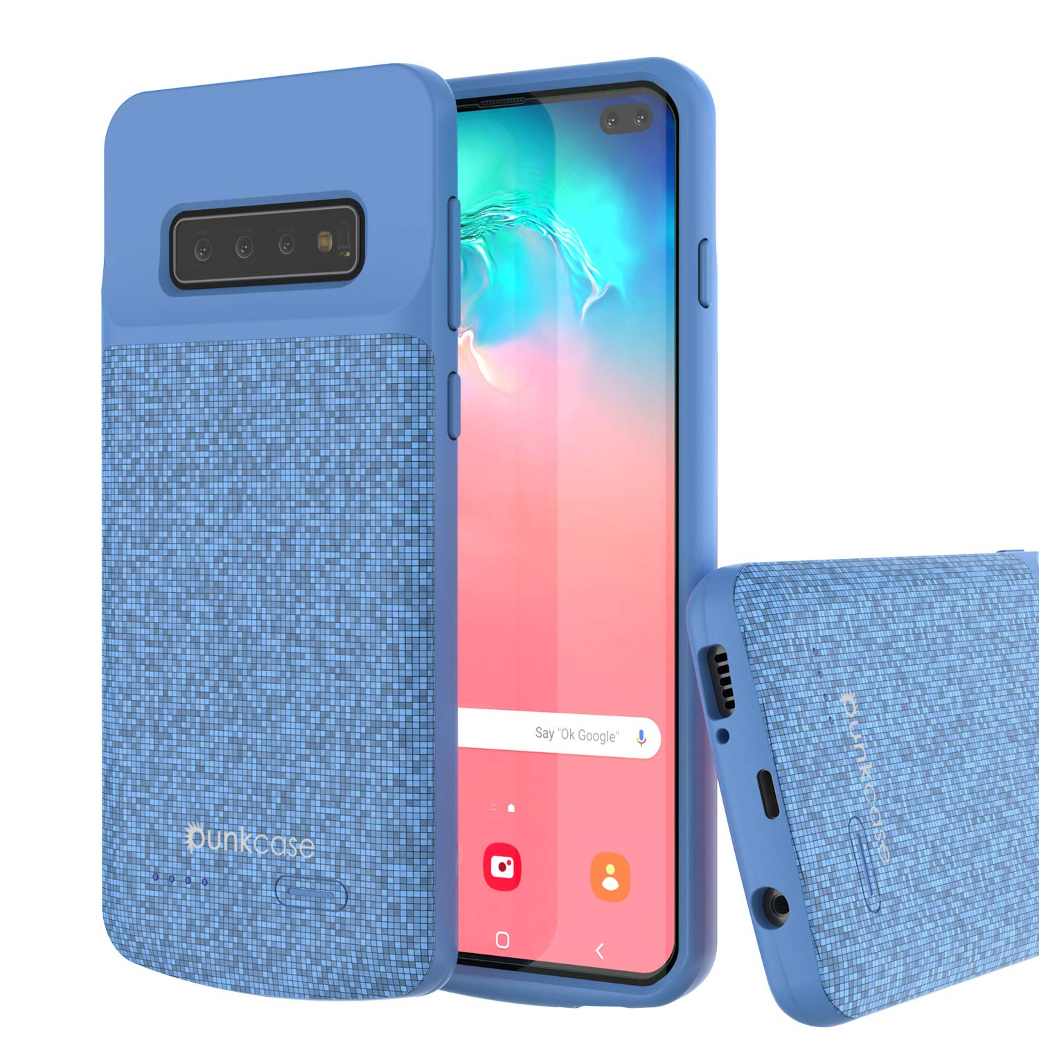 PunkJuice S10+ Plus Battery Case Blue - Fast Charging Power Juice Bank with 5000mAh