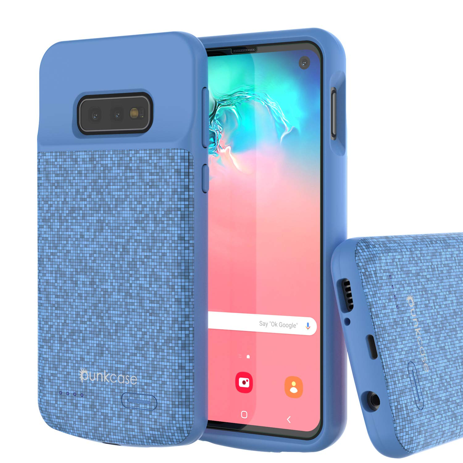 PunkJuice S10e Battery Case Blue - Fast Charging Power Juice Bank with 4700mAh