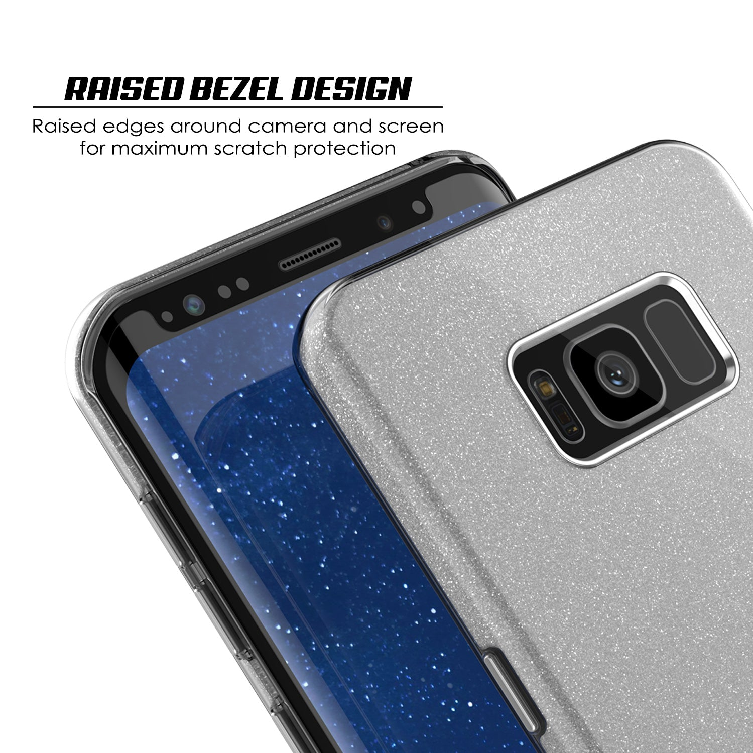 Galaxy S8 Plus Case, Punkcase Galactic 2.0 Series Ultra Slim Protective Armor TPU Cover [Silver]