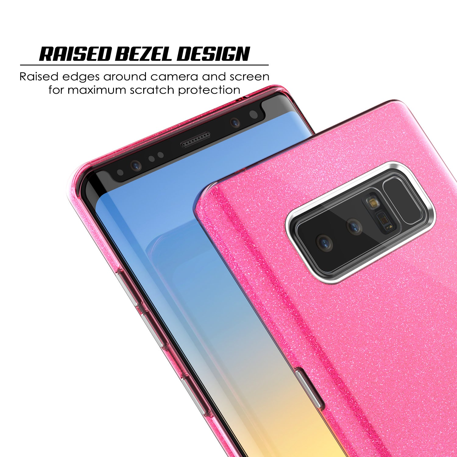 Galaxy Note 8  Punkcase Galactic 2.0 Series Ultra Slim Case [Pink]