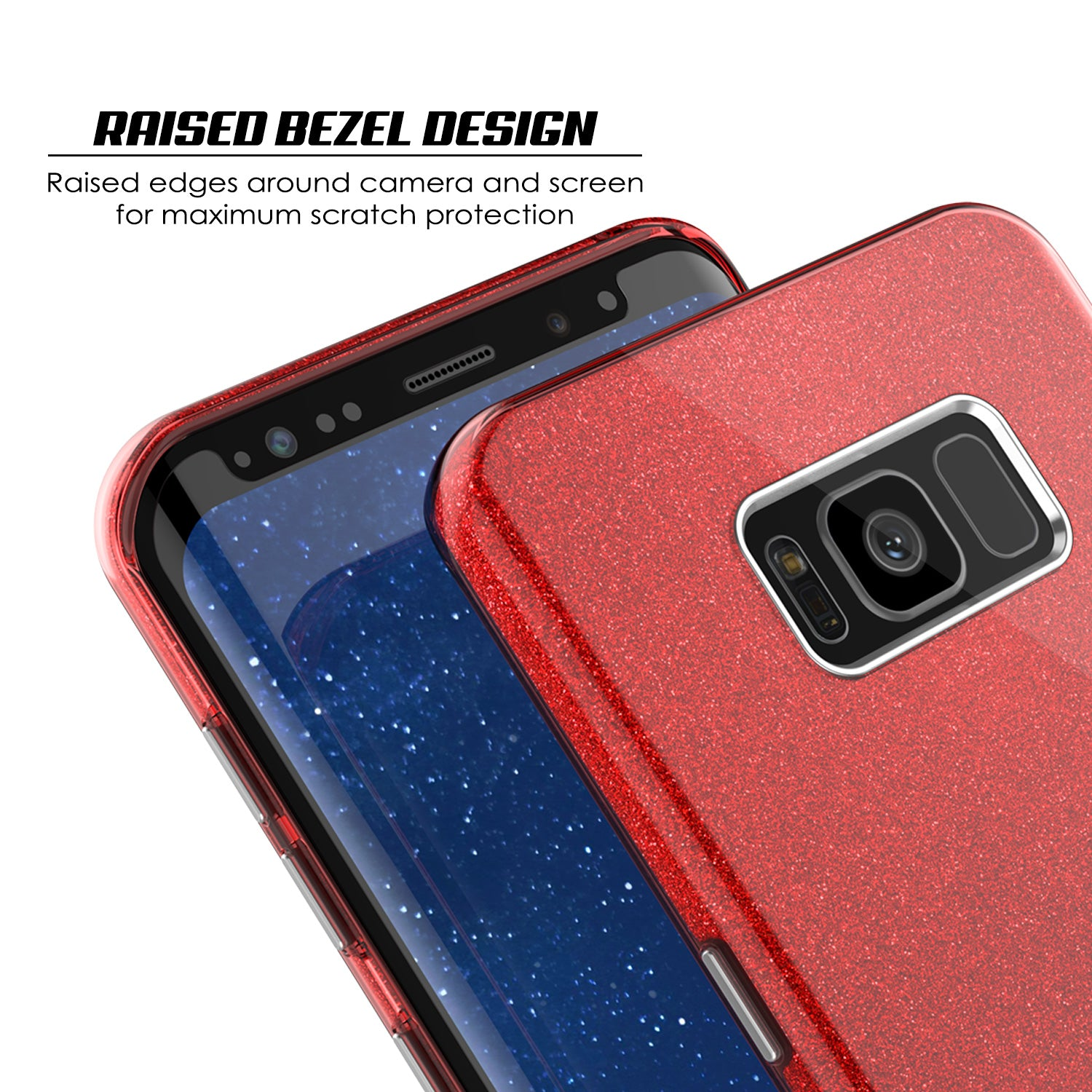 Galaxy S8 Case, Punkcase Galactic 2.0 Series Ultra Slim Protective Armor TPU Cover w/ PunkShield Screen Protector [Red]