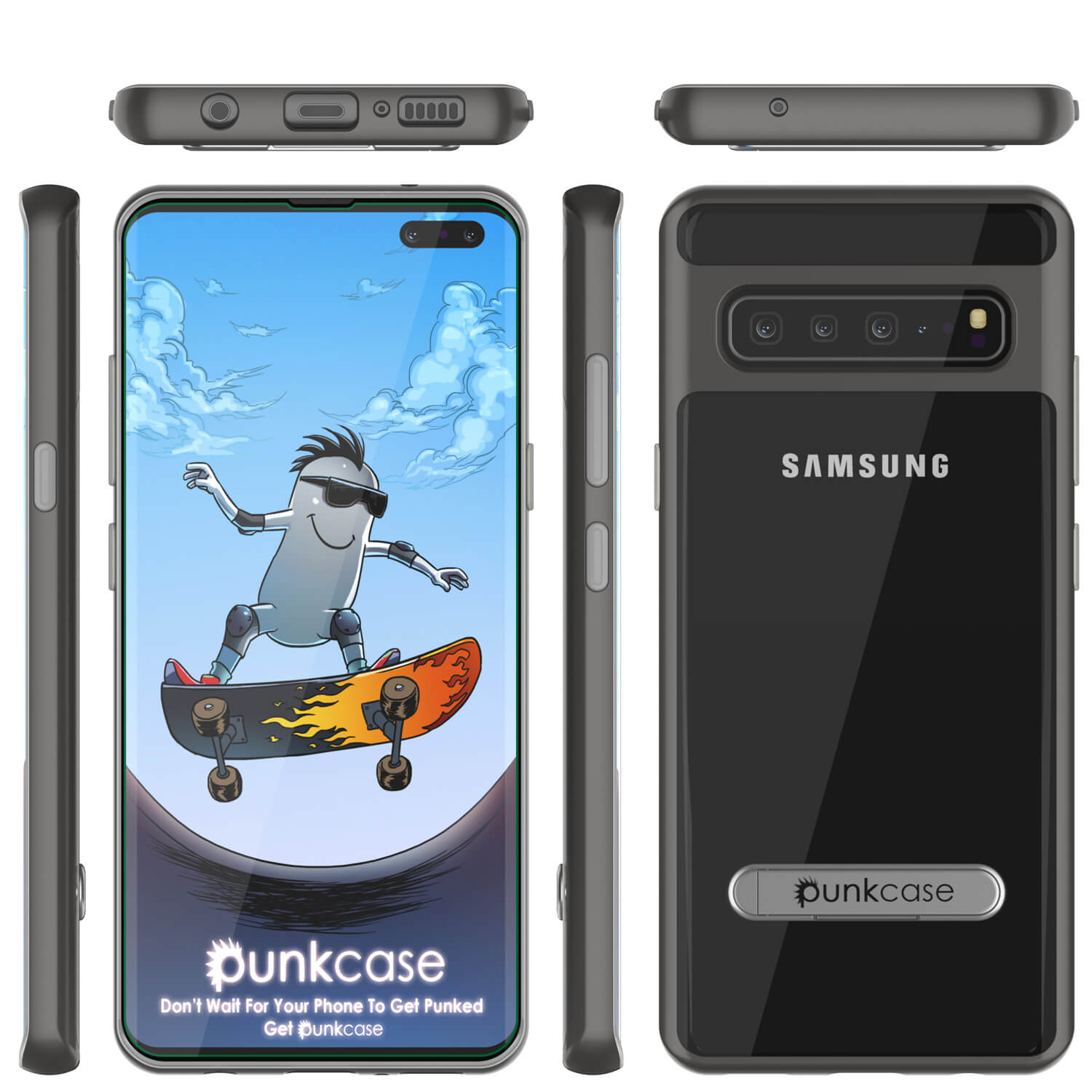 Galaxy S10 5G Case, PUNKcase [LUCID 3.0 Series] [Slim Fit] Armor Cover w/ Integrated Screen Protector [Grey]