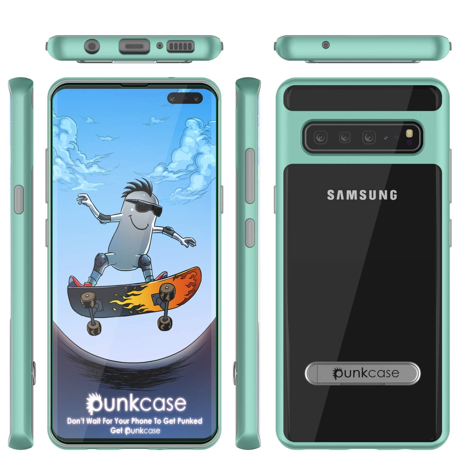Galaxy S10 5G Case, PUNKcase [LUCID 3.0 Series] [Slim Fit] Armor Cover w/ Integrated Screen Protector [Teal]