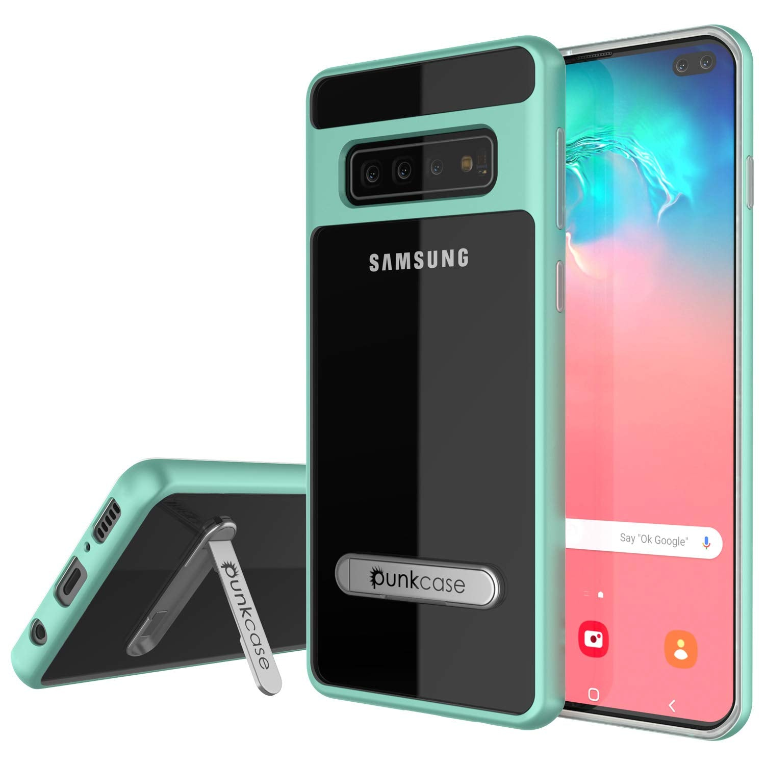 Galaxy S10 Case, PUNKcase [LUCID 3.0 Series] [Slim Fit] Armor Cover w/ Integrated Screen Protector [Teal]