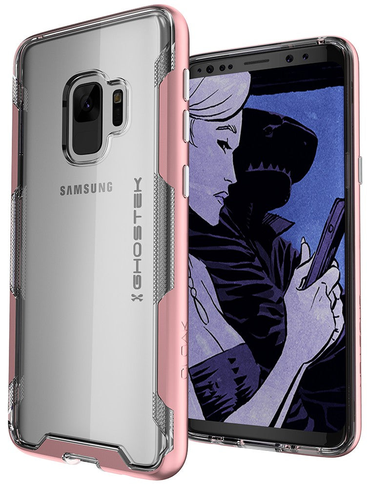 Galaxy S9 Clear Protective Case | Cloak 3 Series [Pink]