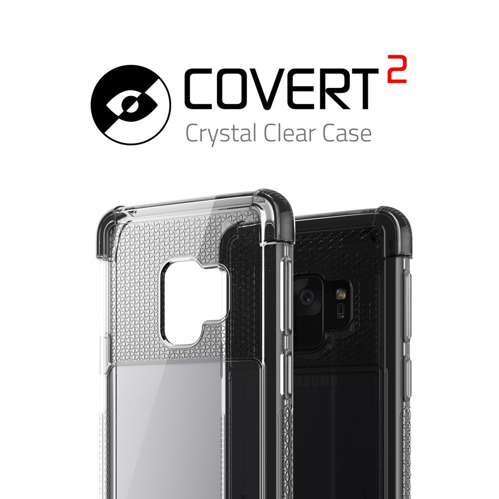 Galaxy S9 Clear Protective Case | Covert 2 Series [Black]