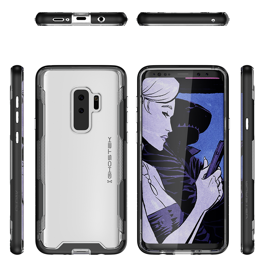 Galaxy S9+ Plus Clear Protective Case | Cloak 3 Series [Black]