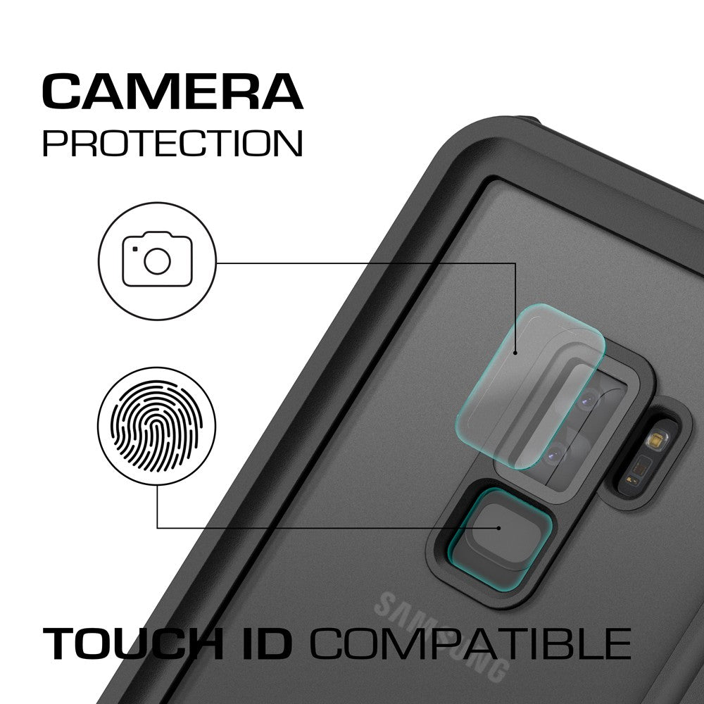 Galaxy S9+ Plus Rugged Waterproof Case | Nautical Series | [Black]