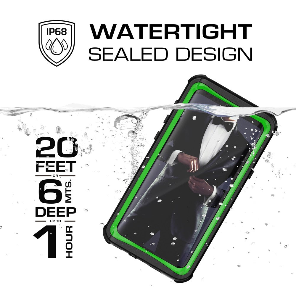 Galaxy S9+ Plus Rugged Waterproof Case | Nautical Series | [Geen]