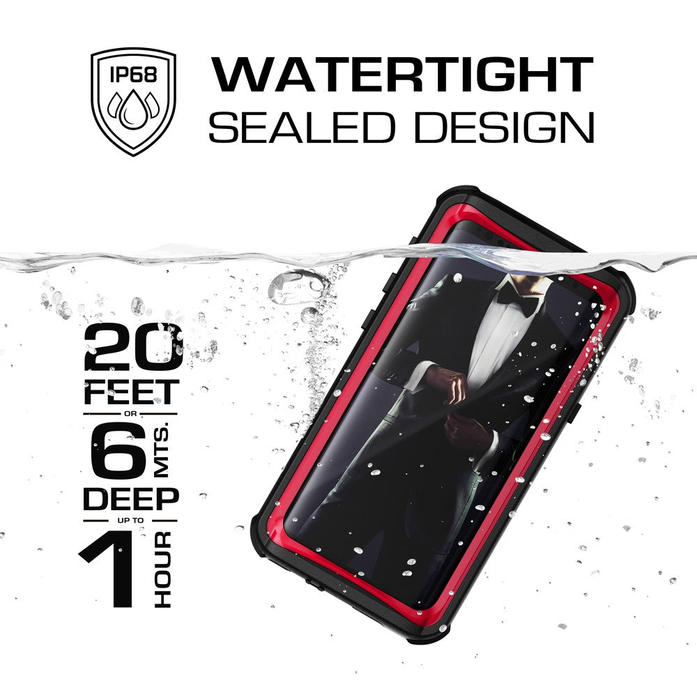 Galaxy S9 Rugged Waterproof Case | Nautical Series [Red]