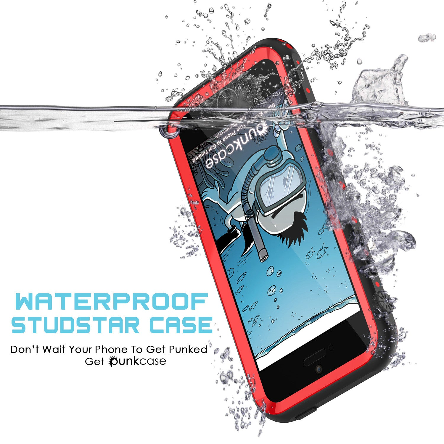 iPhone SE/5S/5 Waterproof Case, PunkCase StudStar Red Case Shock/Dirt/Snow Proof | Lifetime Warranty