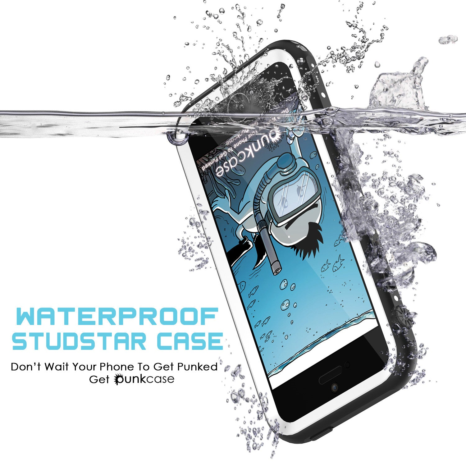 iPhone SE/5S/5 Waterproof Case, PunkCase StudStar White Shock/Dirt/Snow Proof | Lifetime Warranty