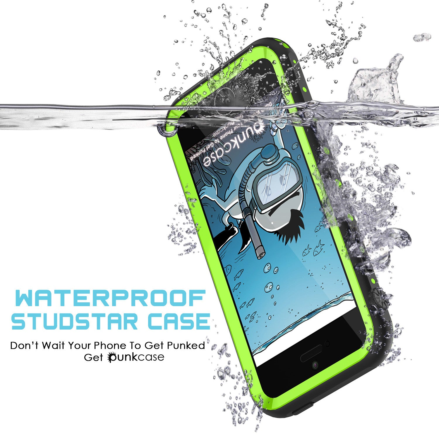 iPhone SE/5S/5 Waterproof Case, PunkCase StudStar Light Green Shock/Dirt Proof | Lifetime Warranty
