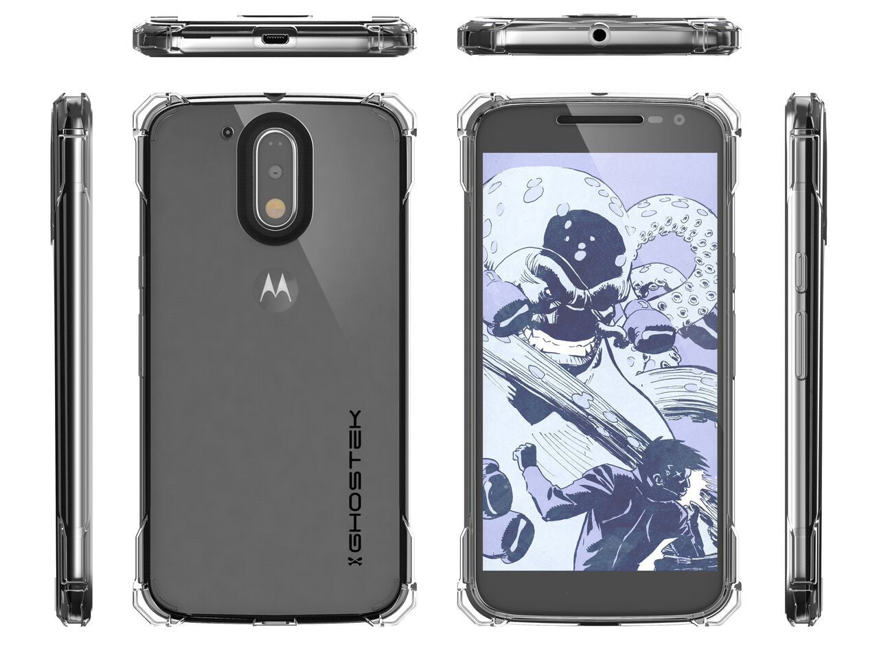 Moto G4+ Plus Case, Ghostek Covert Clear Series | Clear TPU | Explosion-Proof Screen Protector