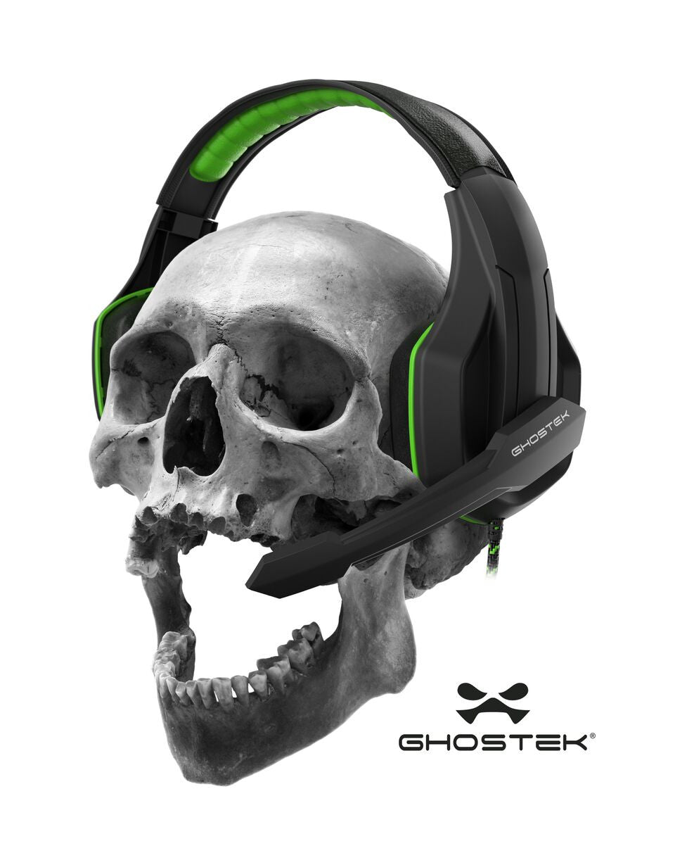 GHOSTEK® GAMING HEADPHONES | HERO SERIES | GREEN | PUNKCASE