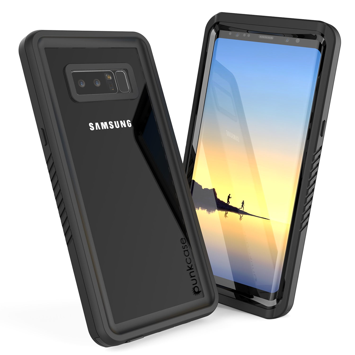 Galaxy Note 8 Anti-Shock Screen Protector Slim-Fit Case [Black]