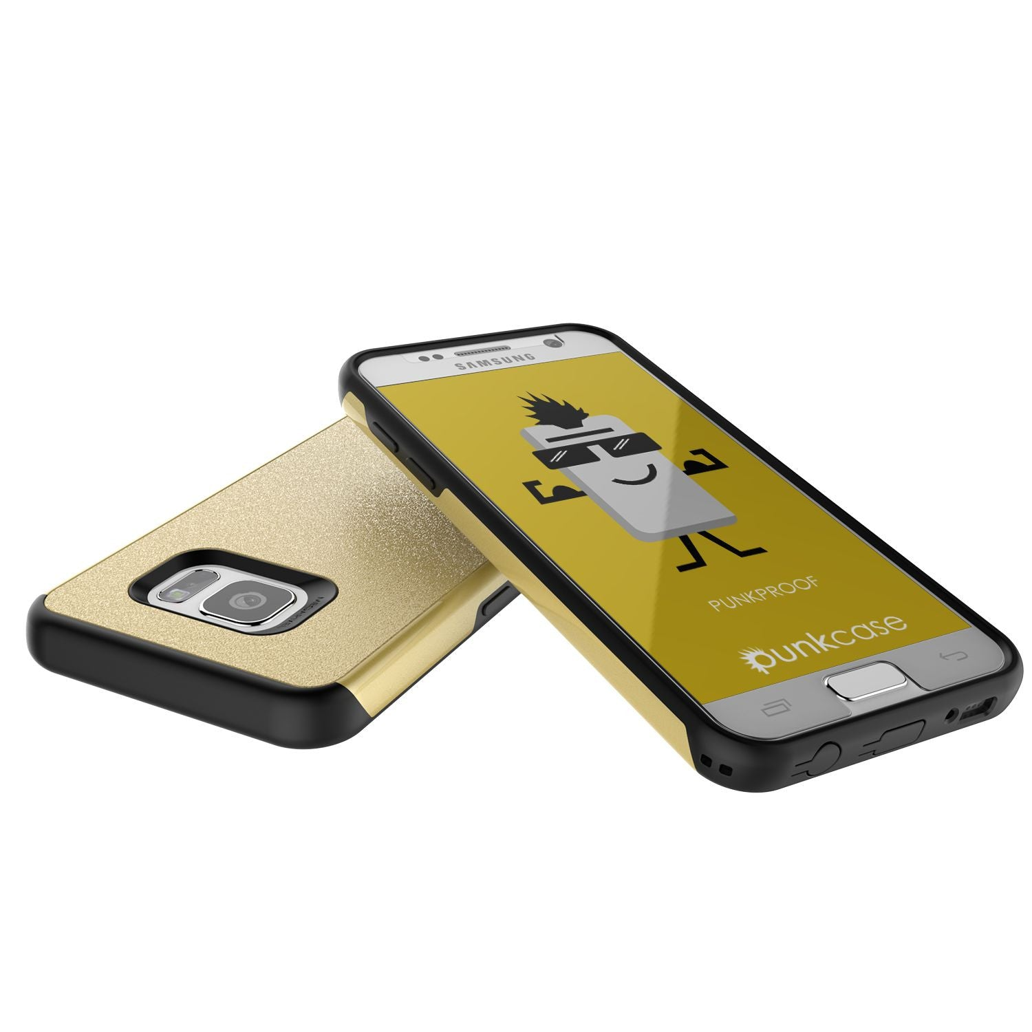 Galaxy s7 Case PunkCase Galactic Gold Series Slim Armor Soft Cover Case w/ Tempered Glass