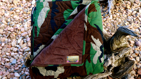 TSG Woodland Camouflage Security Blanket® | Military Blanket