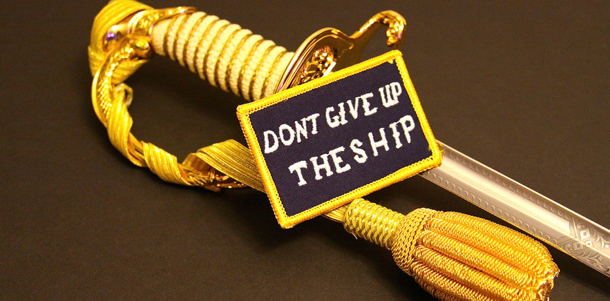 Dont Give Up The Ship Battle Flag Morale Patch