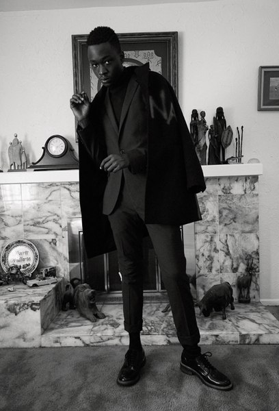 ashton sanders wearing pskaufman... for issue magazine