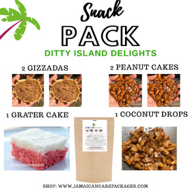 Ships on July 13th - Ditty Snack Pack (Gizzadas, Peanut & Grater Cake & Coconut Drops)