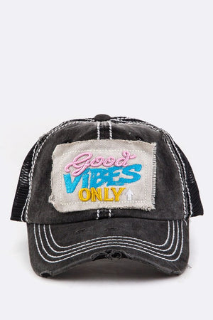 GOOD VIBES ONLY Embroidery Strapback