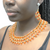Handmade Ethnic Beaded Necklace With Earrings | Arcade Attire