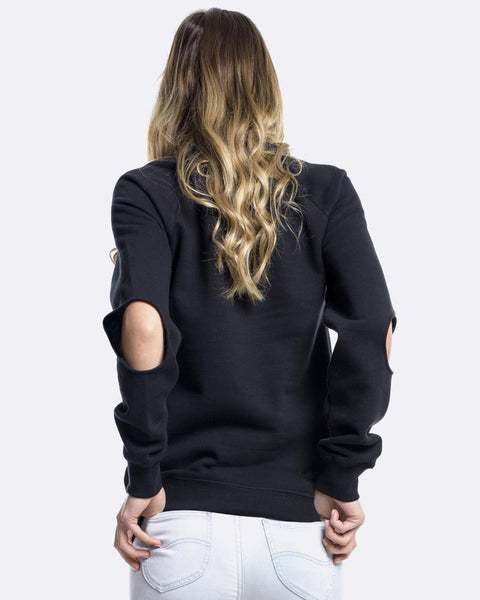 CUBIC EMBROIDERY CREWNECK - BLACK