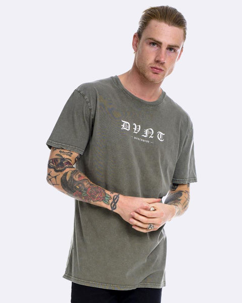 WORLDWIDE TEE - ACID OLIVE