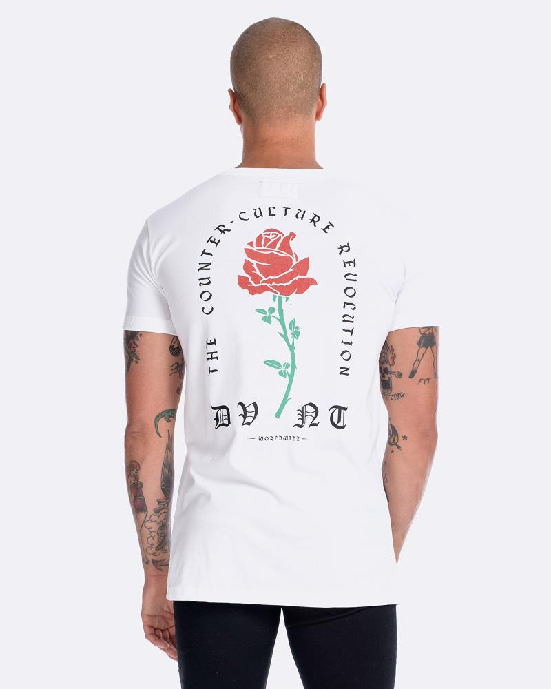 BARBED ROSE TEE - WHITE