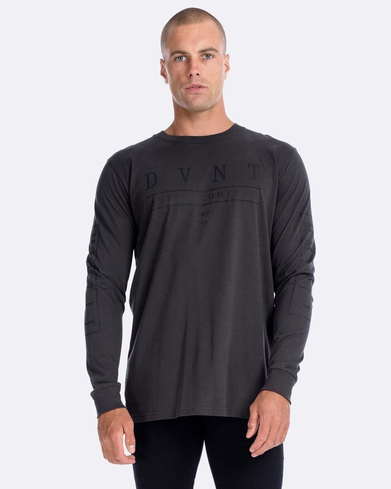 DELUXE LONG SLEEVE TEE - CHARCOAL