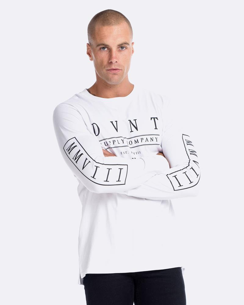 DELUXE LONG SLEEVE TEE - WHTE