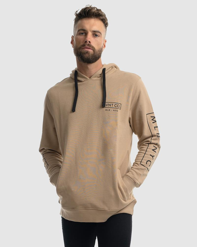 NYC PULLOVER HOODIE - CAMEL