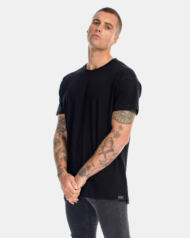 OVER SIZE TEE - BLACK